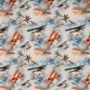Bomuldsjersey økotex m/digitalt tryk med flyver og skyer-011