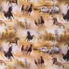 Bomuld/lycra økotex m/digitalt tryk med heste-08