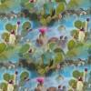 Afklip Bomuldsjersey økotex m/digitalt tryk med kaktus 40x60 cm.-014