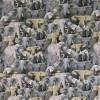Bomulds jersey økotex digitalt print med elefanter i grå og beige-012