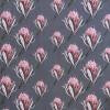 Bomuldsjersey m/digitalt tryk med artiskok blomst i støvet grå-blå-017