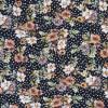 Bomuld/lycra økotex med digitalt tryk med blomster og prikker i sort orange-010