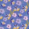Økologisk Bomuldsjersey i blå-lavendel med blomster-013