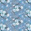 Bomuld/lycra økotex m/digitalt tryk i lyseblå med blomster-08