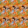 Bomulds jersey med digitalt tryk med Flintstones-013