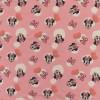 Bomulds jersey med digitalt tryk i lys koral med Minnie-015