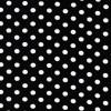 Bomuld/lycra økotex m/prikker, sort/hvid-05