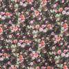 Polyester med digitale blomster i mørkebrun og lyserød-04