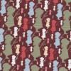 Afklip Patchwork stof Holly Hobbie country i brun, grøn og koral-03
