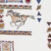 Rest Patchwork stof i knækket hvid med hest og firkanter, 55 cm.-03