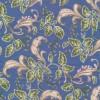 Afklip Patchwork med bladmønster i blå, grøn og beige-01