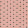 Patchwork stof med kubemønster, off-white, rød og brun-05