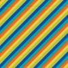 Rest Patchwork stof med skrå striber i kobolt, orange og gul 80 cm.-05