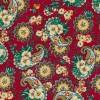 Afklip Patchwork stof i rød med sjalsmønster 50x55cm-03