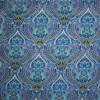 Afklip Patchwork stof Royalty med mønster blå, guld og aqua 50x55 cm.-05