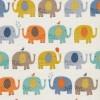 Patchwork stof med elefanter i off-white, carry og grå-03