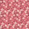 Bomulds-poplin med blomster koral brun off-white-07