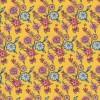 Patchwork stof i lys gul med blomster-08