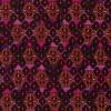Afklip Patchwork stof i cerisse og pink med rudemønster 50x55cm-05