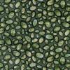 Afklip Patchwork stof m cirkler, grøn army gul , 50x55 cm.-01
