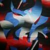 100% silke mønstret i grå blå rød-03