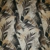 Bomuld/Silke-chiffon med palmeblade beige brun-05