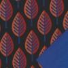 Softshell med blade i sort og koboltblå-03