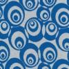Afklip Jacquard strik m/cirkler off-white/klar blå 75 cm.-05