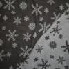 Ribstrikket jacquard uld 2-sidet med snekrystaller i mørkegrå og lysegrå-09