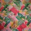 Mønstret viscose lyserød/græsgrøn/pink-01