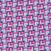 Rest 100% viscose m/firkanter mønster lyseblå/hvid/pink-45 cm.-05