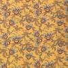 100% viskose twill-vævet carry-gul med blomster-blade-026