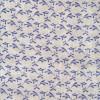 100% viskose med blad mønster i offwhite sand blå-019