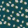 100% crepe viscose med blomster i lys flaskegrøn army offwhite-015