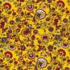 Let 100% viscose med blomster i gul rød hvid-09