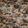 Rest Viscose/lycra m/dyreprint orange/grå/sort 50 cm.-05
