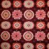 Rest Viscose/lycra m/firkant-/blomst bordeaux/koral 37 cm.-03