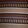 Afklip Viscose/lycra m/striber/mønster koboltblå/rød/sort, 100 cm.-01
