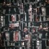 Rest Viscose/lycra mønstret sort/grå-grøn/rød-brun, 100 cm.-05
