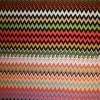 Rest Viscose/lycra m/zigzag koral/lyseblå/grøn/sort, 95 cm.-03