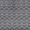 Afklip Viscose/lycra med zig-zag mønster i koksgrå og hvid 100 cm.-011