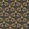 Viscose/lycra med cirkel mønster og blomst i gul-018