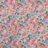 Viscose/lycra m/digitalt print med blomster i lys turkis pink blå-015