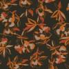 Viscose jersey i mørk army med orange blomster-019