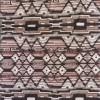 Afklip Viskose jersey med digitalt print striber og mønster i offwhite pudder-brun koks 100 cm.-021