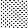 Bomuld/lycra økotex m/prikker, hvid/sort-01