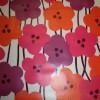 Voksdug m/blomster hvid/pink/lilla-05