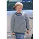 313181 Sweater i halvpatent