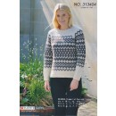 313404 Sweater m/mønsterbort