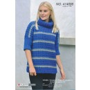 414686 Oversize sweater m/hulmønster